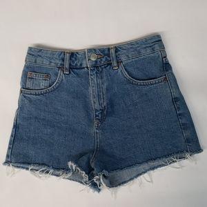 Topshop Moto MOM  High Rise Jean Shorts Size 2